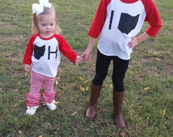 Ohio State - Buckeyes Shirts - Ohio Shirts - OH - IO - OSU - Football Shirts - Matching Ohio Shirts - Kids Ohio Shirts - For Girls - For Boy