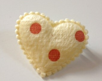 Yellow heart brooch