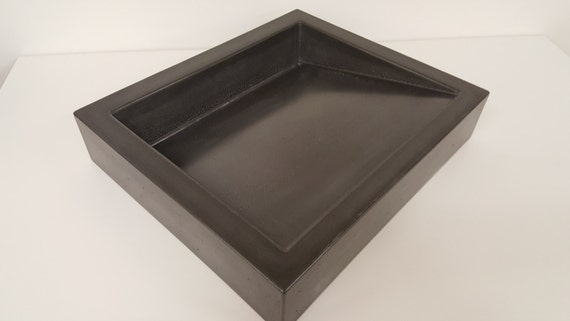 20 shallow vessel ramp sink with slot drain - Shallow vessel sink ...