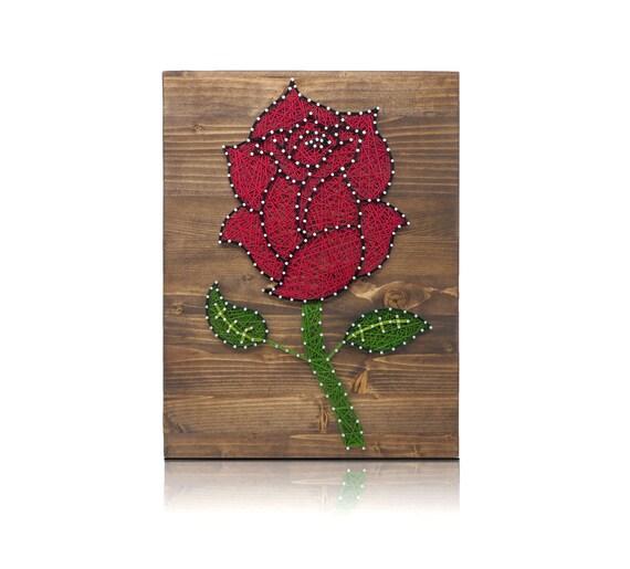 diy string art kit rose rose string art rose crafts kit. Black Bedroom Furniture Sets. Home Design Ideas