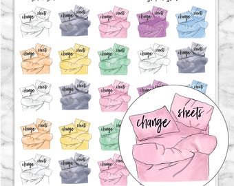 CHANGE SHEETS Icon Planner Stickers for your Erin Condren, Happy Planner, Kikki K, Filofax and more!