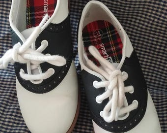 Smartfit Saddle Oxfords, Saddle Shoes, Size 13, Black White, Retro Look, At the Hop, Circle Skirt, Poodle Skirt, School Dance, 50's Dance
