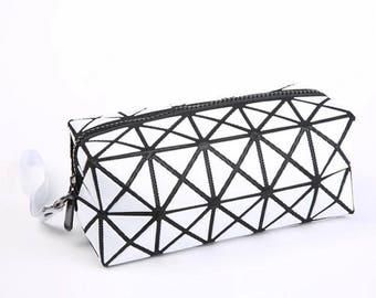 FREE SHIPPING Monochrome Geometric Makeup Bag