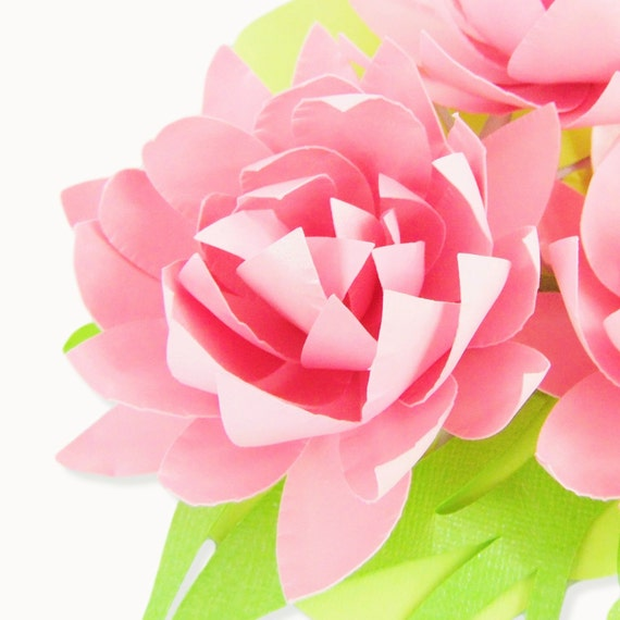 Easy diy paper flowers paper flower templates small diy for Easy paper cutting flowers