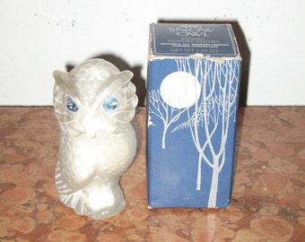 Vintage 1970's Avon Snow Owl Sonnet Powder Sachet Bottle 1.25 Ounces Original Box! #BV