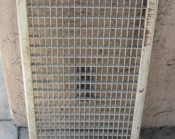 1940's Architectural Salvage Iron Vent Heater Floor Grate Garden Decor! #BV