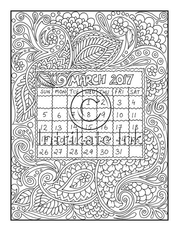 march flower coloring pages - photo#32
