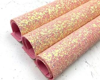 Glitter fabric sheet - Ballet Slippers - Peach Glitter