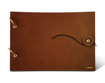 Brown Leather Sketchbook Cover, sketch book cover, drawing book, a5, personalized, monogrammed
