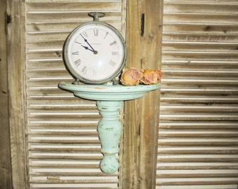 Shabby wall console turquoise