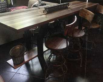 Bar height lounge table