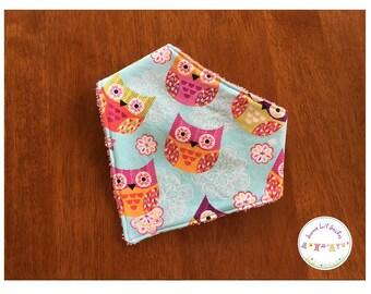 Bandana Dribble Bib Owl