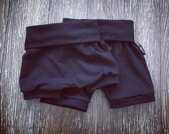 Short plain black, bamboo