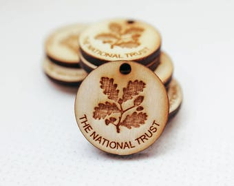 Custom Wooden Buttons With Your Shop Name Or Logo, Personalized Buttons, Knitting Buttons, Craft Buttons, Knitting Buttons, Engraved Buttons