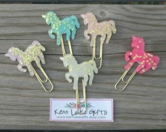 Sparkly Unicorn planner clip, Unicorn paper clip bookmark, Gift for teen, Gift for girls, Gift for planner addicts, Gift for wife, Planner