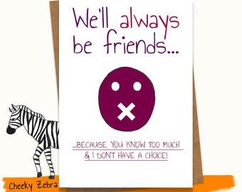 Birthday card best friend / funny / 21st / 18th