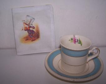 Alice in Wonderland teabag wallet, holder, Mad Hatter, It's always teatime, teacher, gift, tea lovers gift