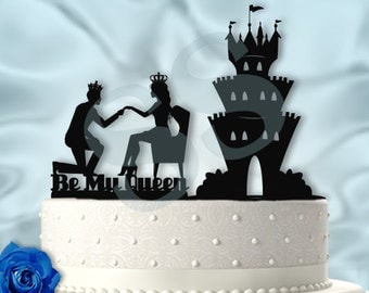 Be My Queen with Castle 2pc Cake Topper