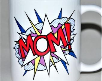 Pop Art mug Mother's Day Mug Mom mug Mum mug Mother's Day gift Pop Art gift for her Father's Day gift Father's Day mug Gift for him