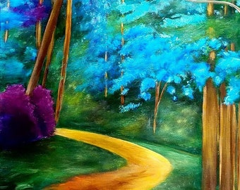 Path in Blue Woods