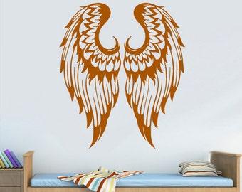 rvz2961 Wall Vinyl Decal Sticker Bedroom Decal Wings Angel