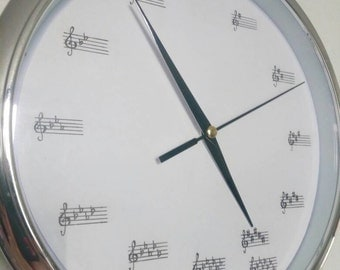 Clock with circle of fifths-Circle of fifths clock