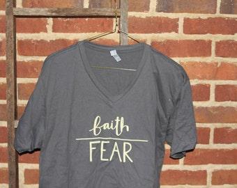 Faith Over Fear V-Neck tee!