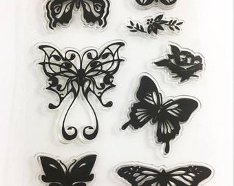 Butterfly's Butterfly silicon clear rubber stamp silicone card making scrap booking