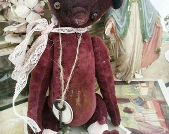 Shabby fabric Teddy bear! Hand work