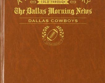 Dallas Morning News Dallas Cowboys Football Book - Leatherette With embossing on front cover
