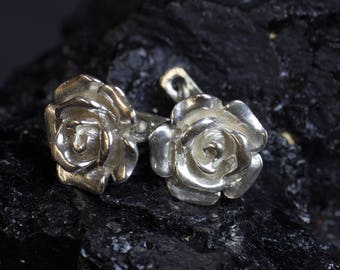 """Earrings """"rose"""" made of 925 Silver"""