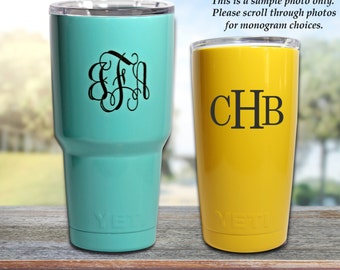 Engraved Powder Coated YETI, Colored Yeti, Monogram YETI Tumbler, Powder Coated 30oz Authentic Yeti Tumbler
