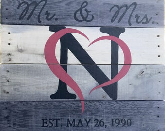 Mr. & Mrs. Anniversary sign
