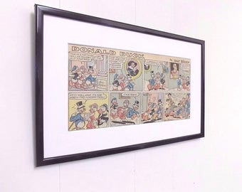 Original Disney Comic's  Mounted And Ready to Frame Perfect Christening Birthday Gift