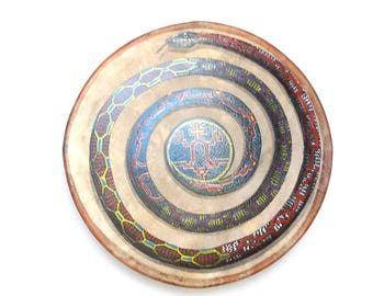 Shaman Drum Anaconda Shipibo-Conibo (handpainted)