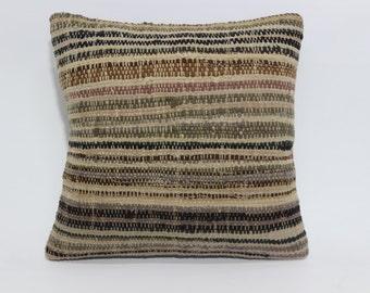 cushion cover decorative kilim pillow 20x20 sofa pillow striped pillow multicolour pillow kilim anatolian turkish kilim pillow SP5050-1162