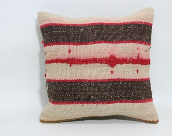 Kelim Kissen Home Kilim Pillow 16x16 Accessories Knit Pillow Cover Kilim Pillow Cover SP4040-1662