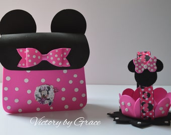 """Minnie Goody Bags and Minnie Baskets """"COMBO"""", Minnie Favor Basket, Minnie Goody Favor, Minnie Party Favors,  Birthday Minnie Favors,"""