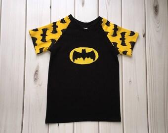 Batman Shirt Boy - Batman Shirt Girl - Kids Batman Shirt - Toddler Batman Shirt - Batman Birthday - Superhero Shirt - Custom Batman Shirt