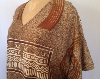 1990s ethnic poncho top by SOHO