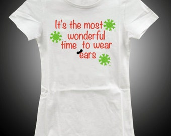 Disney Christmas Shirt (Most Wonderful time)- DECAL ONLY