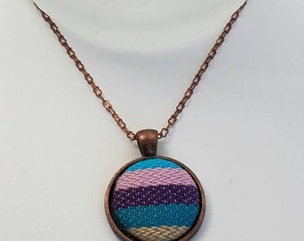 Wrap Scrap Jewelry - Necklace - Didymos Cleo - Antique Copper - Striped Necklace - Babywearing