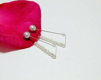 Reversible clip ear cuff ear wrap Pearl Chalcedony earring  Contemporary Jewellery