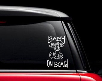 Baby On Board Decal Etsy - Custom unique car decals