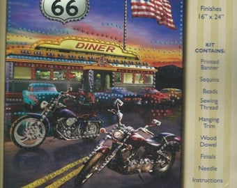 "Design Works ""Route 66"" jeweled banner kit #9655"