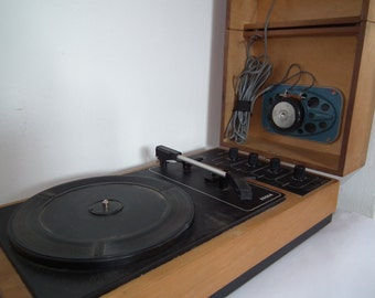 RECORD PLAYER Stereo Turntable GZC-710 Czechoslovakia Tesla Vintage Records, Collectible, Nostalgic, Speakers and music, 1980
