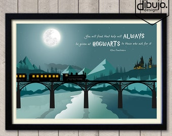 Harry Potter Hogwarts Print