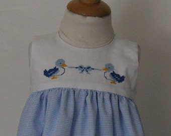 Dress embroidered baby hand T 6 months