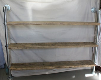 Upcycled Scaffold Board Shelving Unit