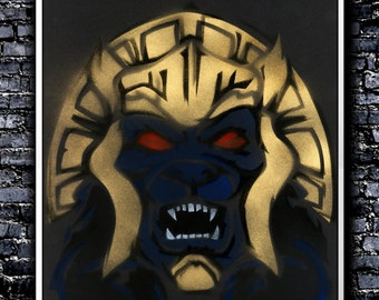 Goldar - A3 Signed Original (Inspired by Power Rangers)